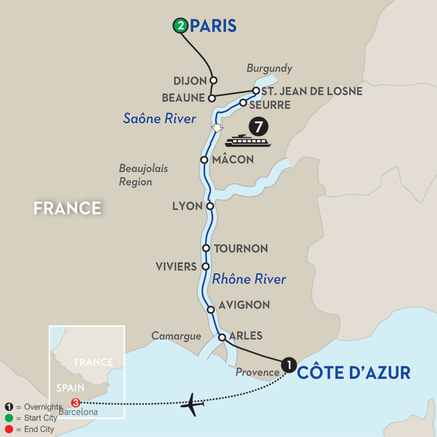 14 Day Avalon River Cruise from Paris to Barcelona 2017
