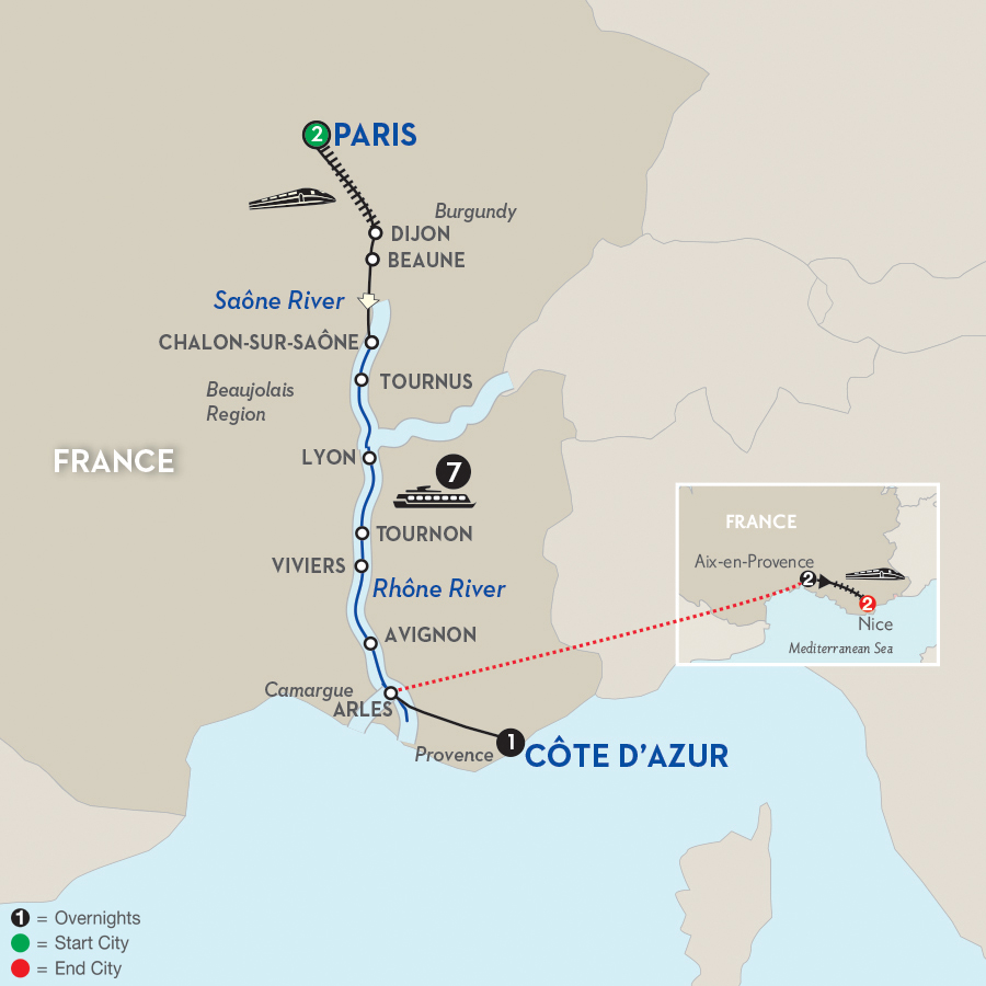 14 Day Avalon River Cruise From Paris To Nice 2018