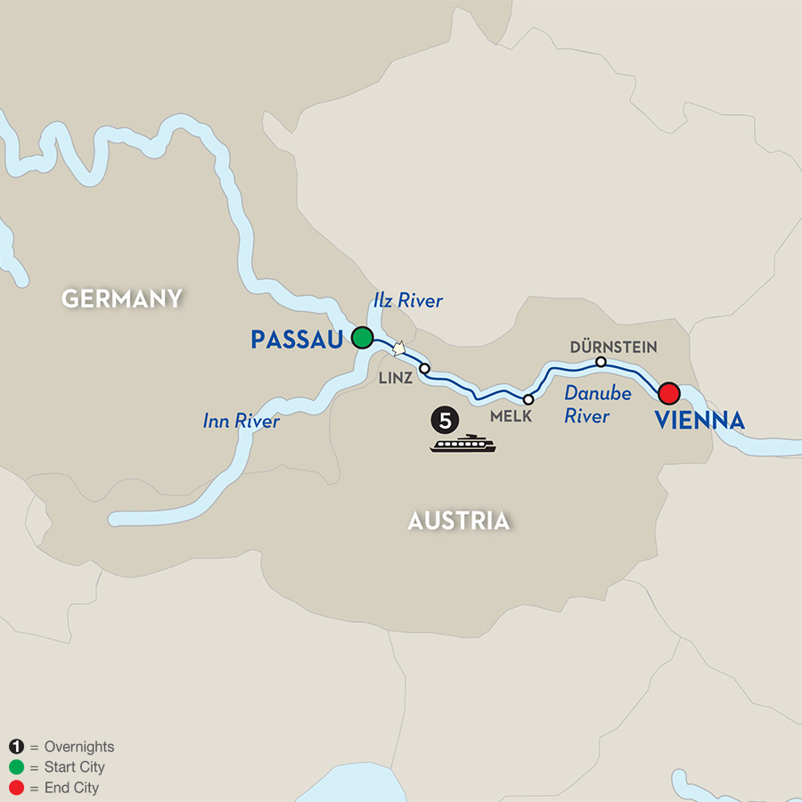 6 Day Avalon River Cruise from Passau to Vienna 2017