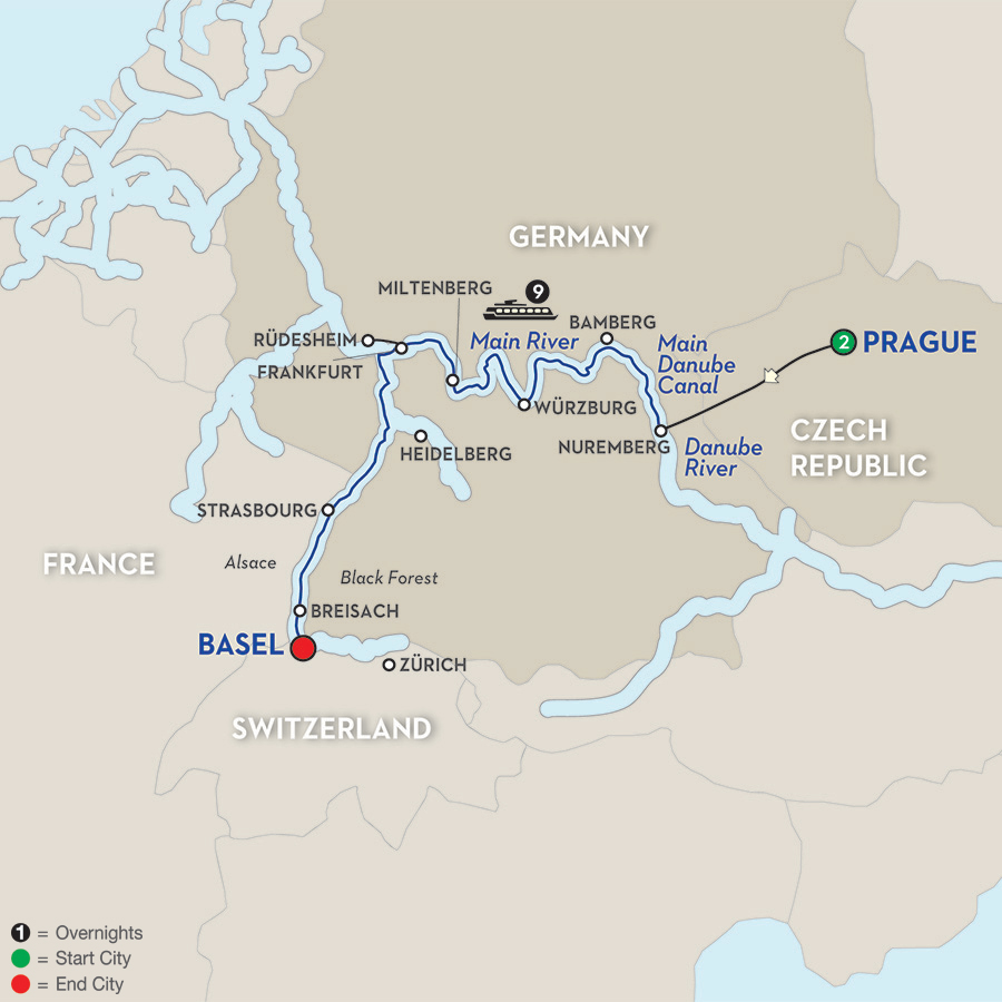 12 Day Avalon River Cruise From Prague To Basel 2018 Cruiseexperts Com