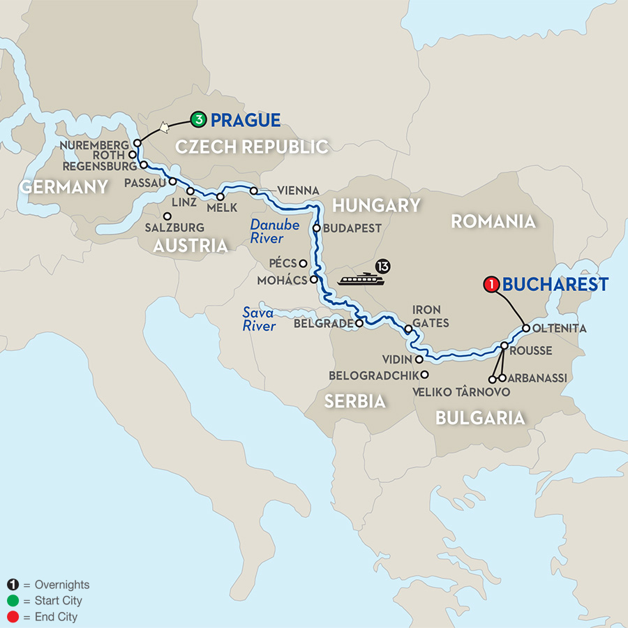 18 Day Avalon River Cruise From Prague To Bucharest 2018
