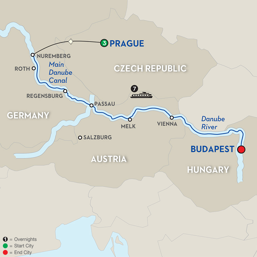 11 Day Avalon River Cruise from Prague to Budapest 2018
