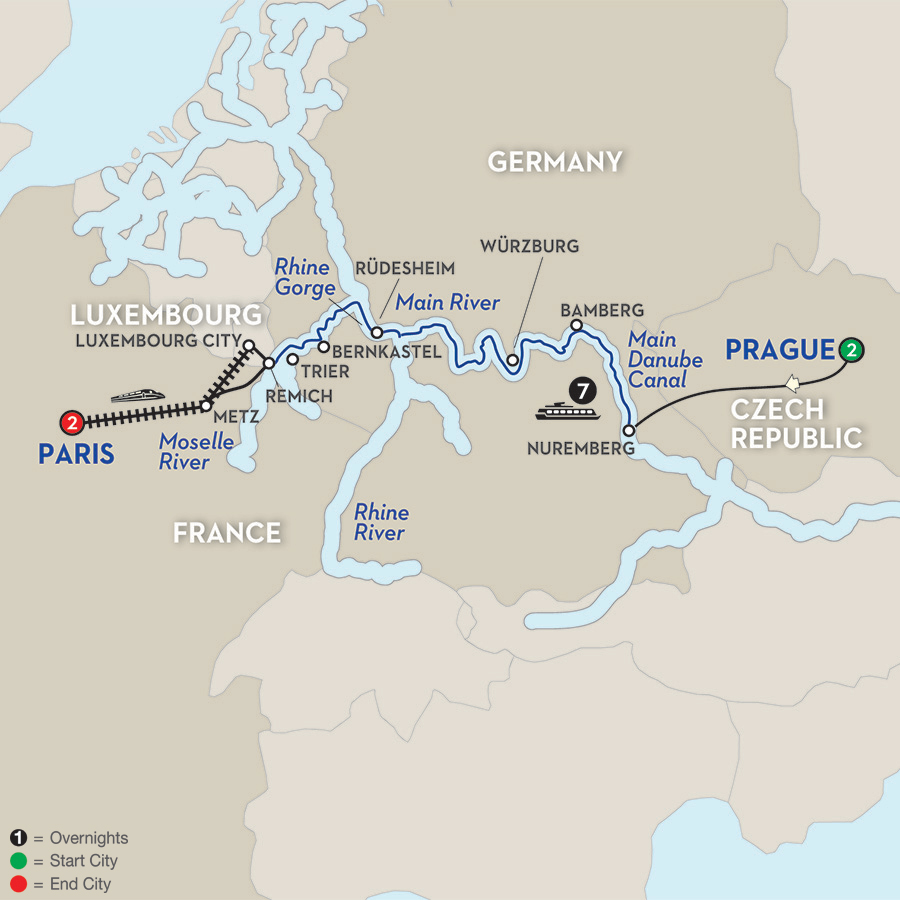 12 Day Avalon River Cruise from Prague to Paris - Westbound 2017
