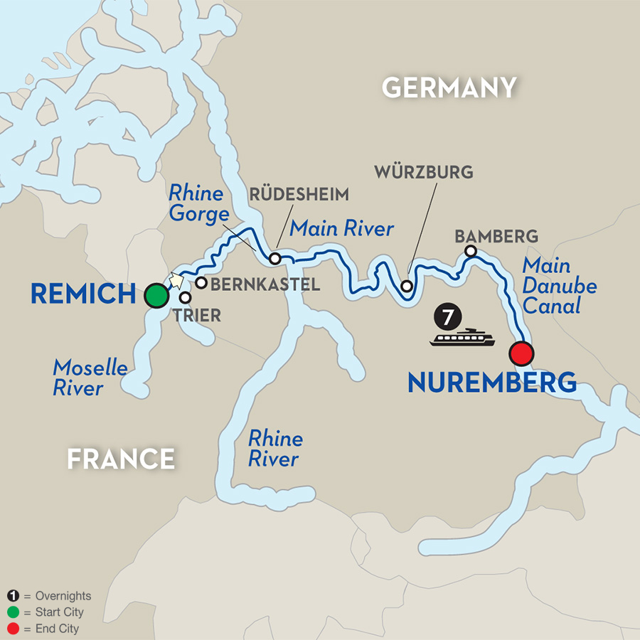 8 Day Avalon River Cruise from Remich to Nuremburg Cruise Only