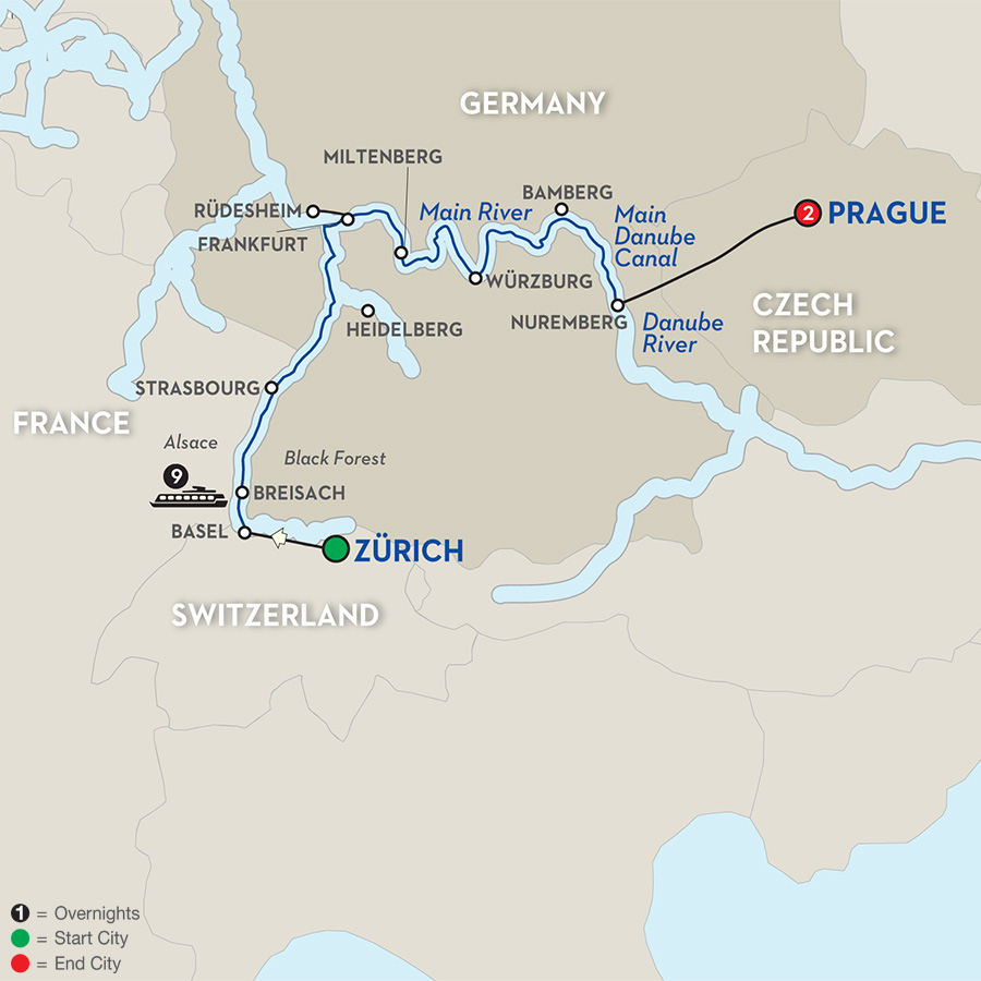 12 Day Avalon River Cruise From Zurich To Prague 2018 Cruiseexperts Com