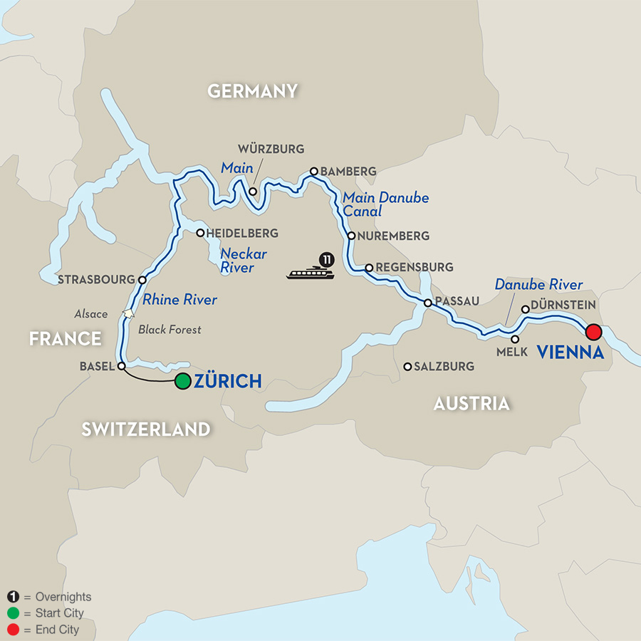 12 Day Avalon River Cruise from Zrich to Vienna 2017