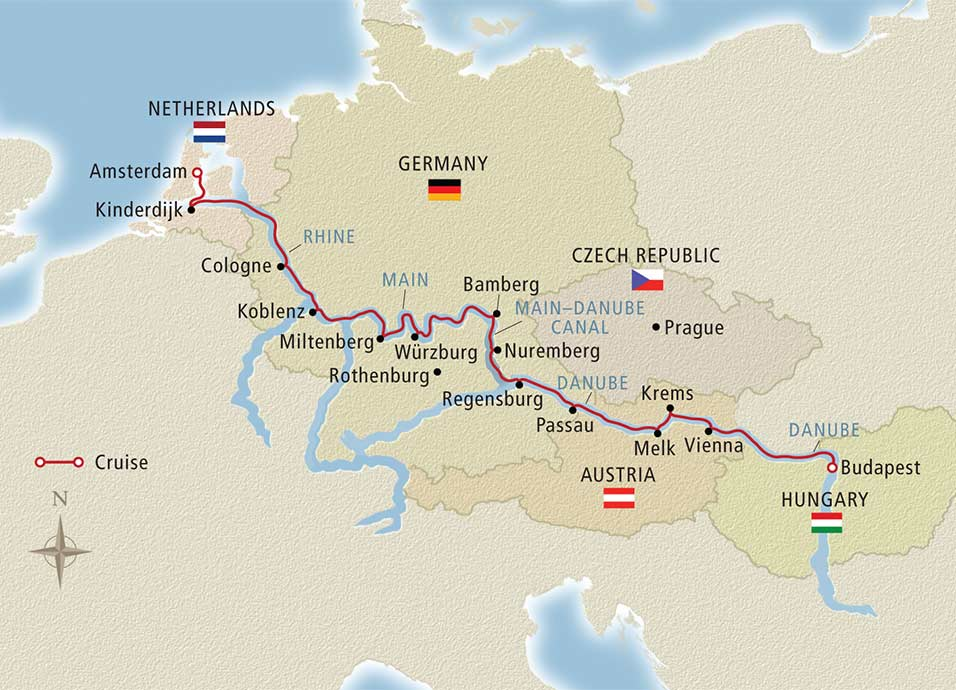 15 Day Viking River Cruise From Amsterdam To Budapest 2018