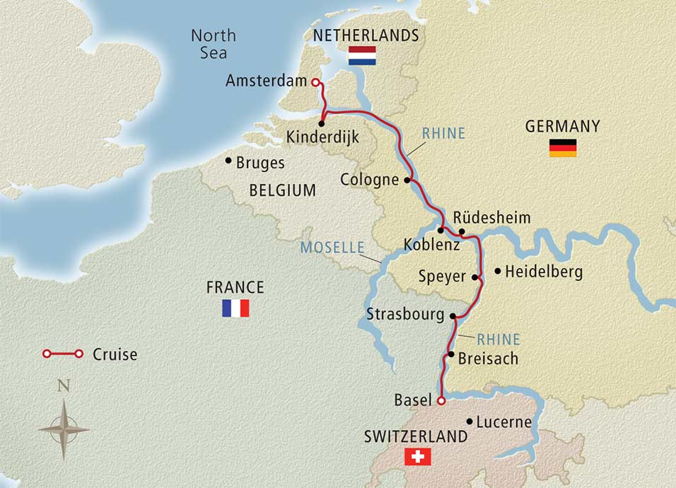 8 Day Viking River Cruise From Basel To Amsterdam 2018