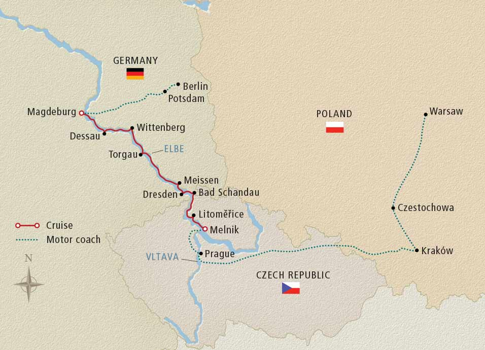 Day Viking River Cruise From Berlin To Warsaw - Berlin map 2017