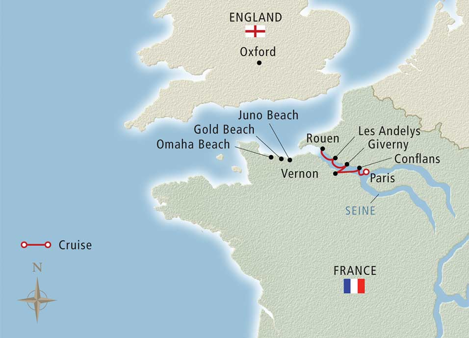 8 Day Viking River Cruise From Paris To Rouen To Paris